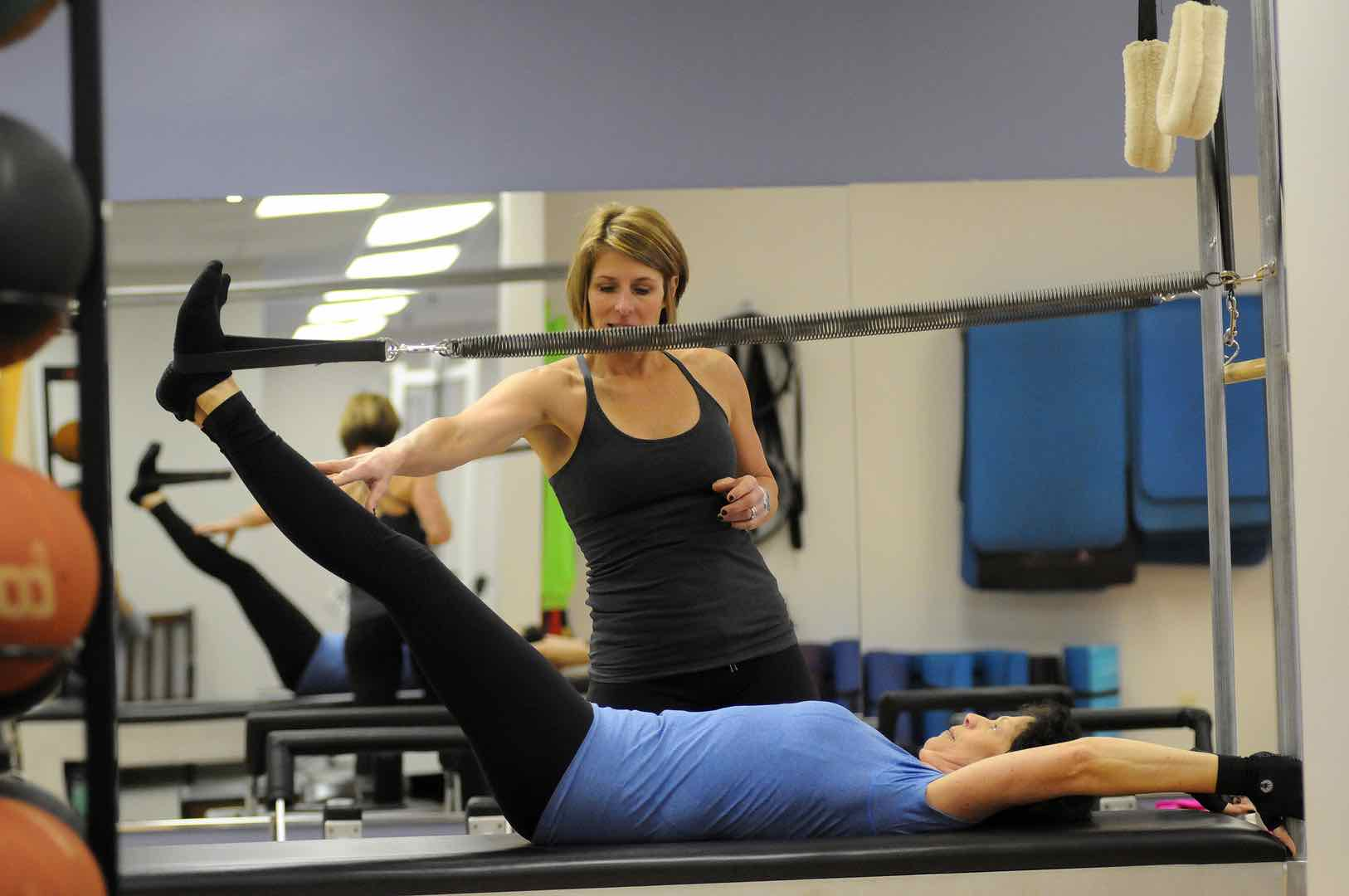 Core exercise training and streaching at FitnessWorks, Inc