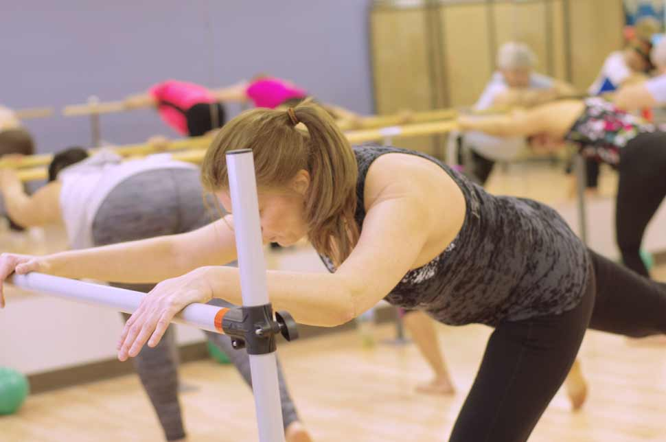 Barre workout classes at FitnessWorks, Inc