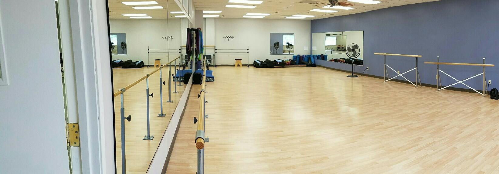 Check out our dance, yoga and group class studio at FitnessWorks, Inc